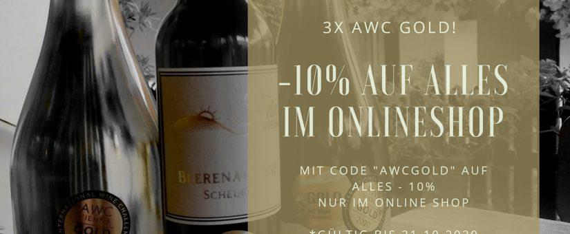 3 x AWC Gold 2020 – 10% Rabatt